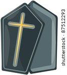 illustration of isolated casket ... | Shutterstock .eps vector #87512293