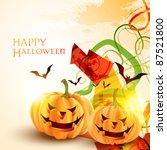 stylish halloween background... | Shutterstock .eps vector #87521800
