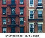 a fire escape of an apartment... | Shutterstock . vector #87535585