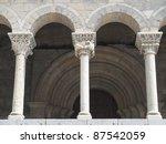 Romanesque Columns Of The...