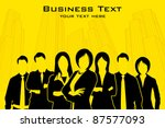 illustration of business people ... | Shutterstock .eps vector #87577093