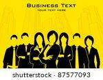 illustration of business people ... | Shutterstock .eps vector #87577093