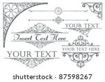 collection of antique style... | Shutterstock . vector #87598267