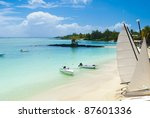 idyllic tropical beach in the... | Shutterstock . vector #87601336