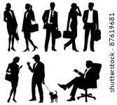 global team   vector silhouettes | Shutterstock .eps vector #87619681