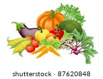 illustration of an assortment... | Shutterstock .eps vector #87620848