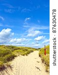 Way Through The Dunes On The...