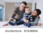 happy young family have fun and ... | Shutterstock . vector #87638806