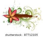 tropical flower  frame for text | Shutterstock . vector #87712105