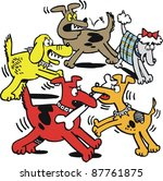 ,,altercation,barking,battle,bone,cartoon,colorful,comical,competition,dog,dog fight,drawing,fierce,fight