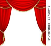 theater stage  with red curtain.... | Shutterstock .eps vector #87765949