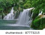 Waterfall In National Park Krk...