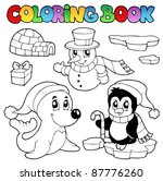 coloring book wintertime... | Shutterstock .eps vector #87776260