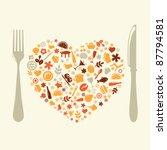 restaurant design in form of... | Shutterstock .eps vector #87794581