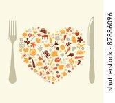 restaurant design in form of... | Shutterstock . vector #87886096
