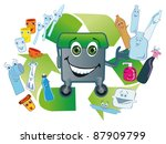 used plastic packing gladly... | Shutterstock . vector #87909799