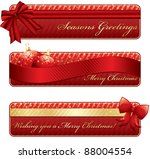 horizontal red and gold banners ... | Shutterstock .eps vector #88004554