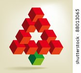 christmas tree  impossible shape | Shutterstock .eps vector #88013065