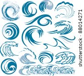 wave collection | Shutterstock .eps vector #88014271