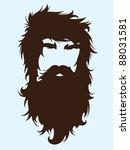 bearded man silhouette... | Shutterstock .eps vector #88031581