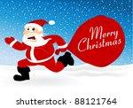 running santa | Shutterstock .eps vector #88121764