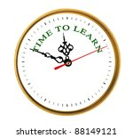 clock showing time to learn | Shutterstock . vector #88149121