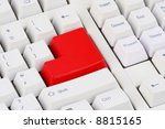 different   white keyboard with ... | Shutterstock . vector #8815165
