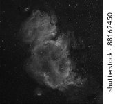 The Soul Nebula, IC 1805, in Hydrogen Alpha - stock photo