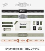 vintage style website... | Shutterstock .eps vector #88229443