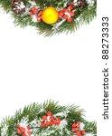 christmas green framework... | Shutterstock . vector #88273333
