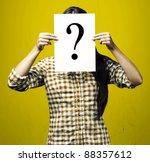 portrait of woman peaking... | Shutterstock . vector #88357612