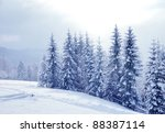 beautiful winter landscape with ... | Shutterstock . vector #88387114