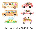collection of cars | Shutterstock .eps vector #88451104