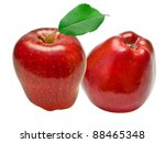 red apple isolated on white... | Shutterstock . vector #88465348