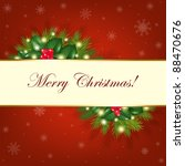 merry christmas background with ... | Shutterstock . vector #88470676