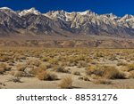 Sierra Mountains And Mt. Whitney