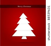 christmas tree on red fiber  ... | Shutterstock . vector #88539631