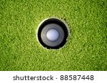 golf ball in the hole | Shutterstock . vector #88587448