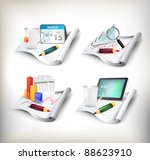 office icon set | Shutterstock .eps vector #88623910
