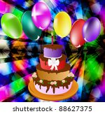 celebratory pie on an abstract... | Shutterstock . vector #88627375