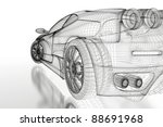 sport car model on a white...   Shutterstock . vector #88691968