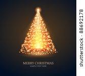 christmas tree from light...   Shutterstock .eps vector #88692178