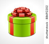 gift box with pink bow and... | Shutterstock .eps vector #88692202