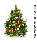 decorated christmas tree... | Shutterstock . vector #88755883