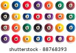 pool ball alphabet