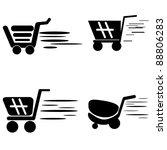 shopping cart   Shutterstock .eps vector #88806283