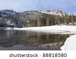 Постер, плакат: Winter at Mammoth Lakes