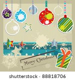 christmas and new year grunge... | Shutterstock .eps vector #88818706