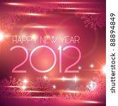 beautiful shiny happy new year