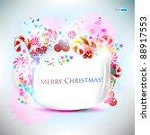 abstract glossy speech bubble... | Shutterstock .eps vector #88917553